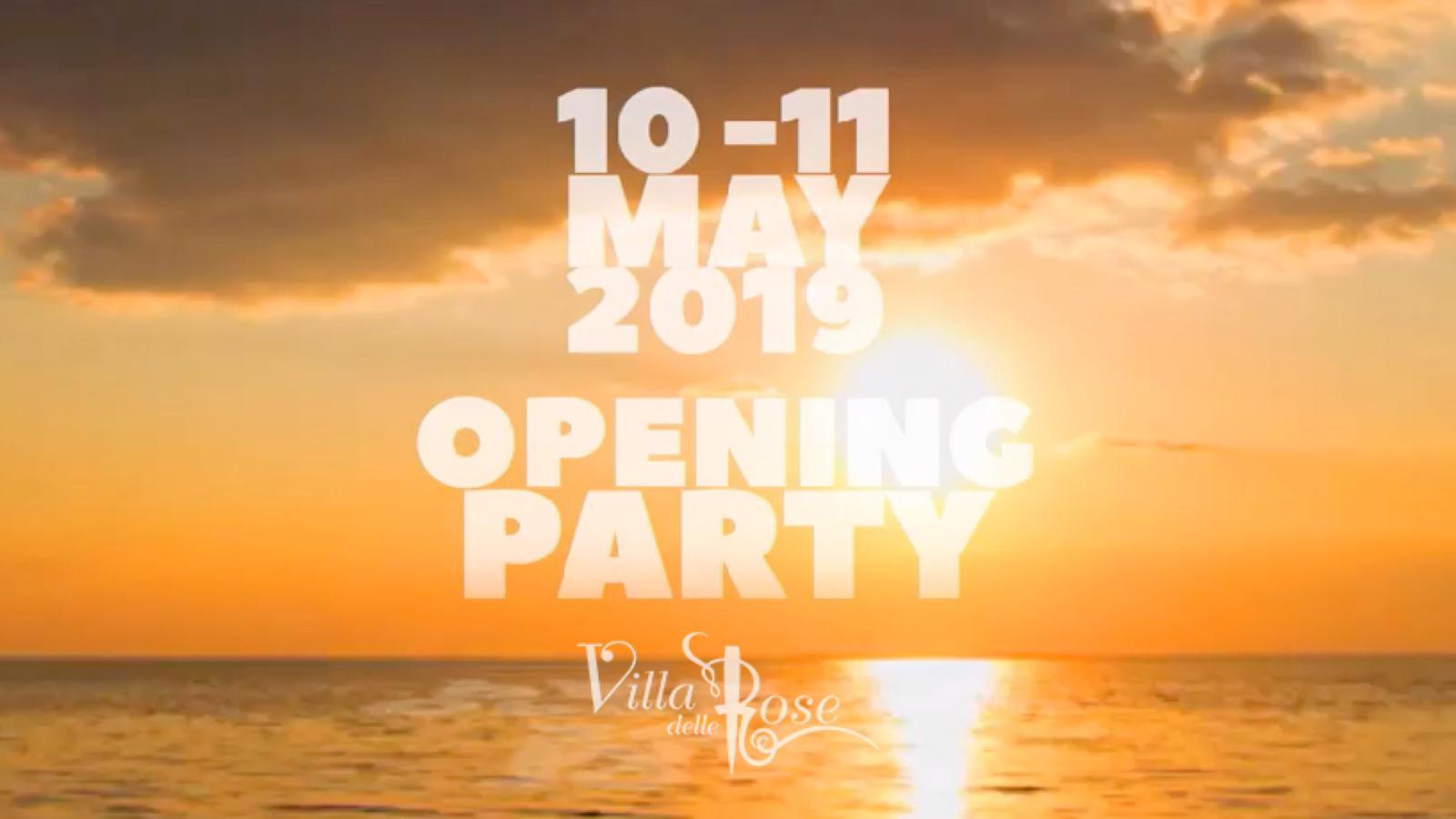 Apertura Villa delle Rose 10 – 11  Maggio 2019 – Ticket Pacchetti Hotel