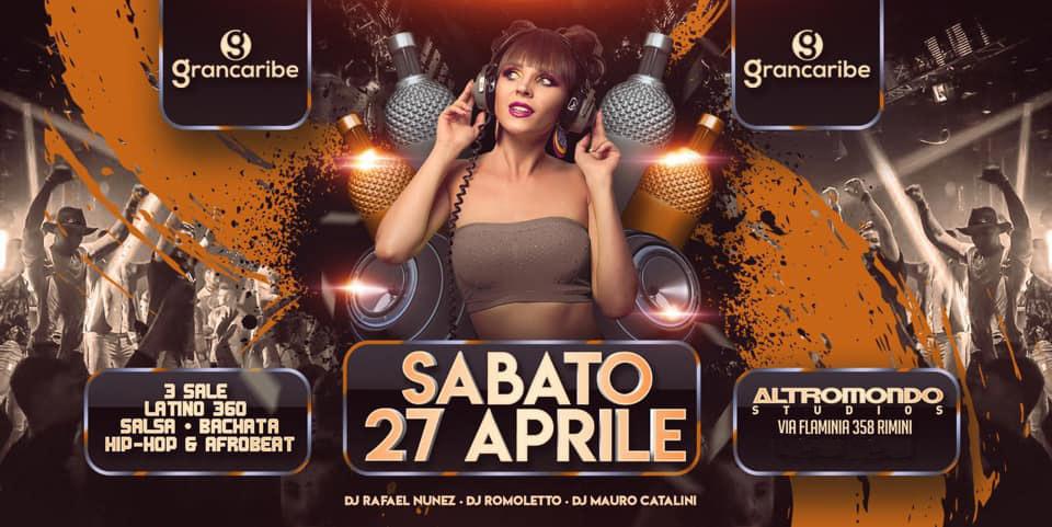 Grancaribe Altromondo Studios Rimini – Sabato 27 Aprile 2019 – Ticket & Pacchetti Hotel