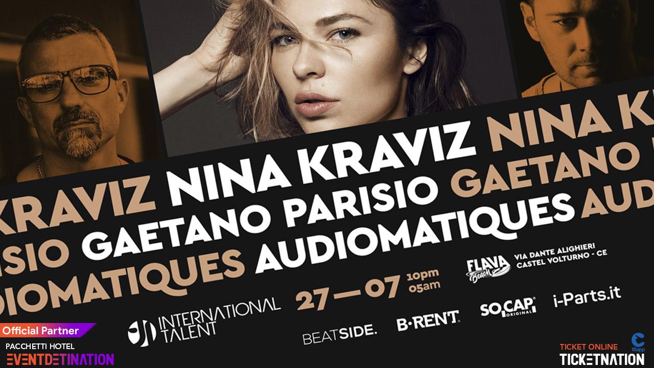 Nina Kraviz at Flava Beach Caserta – 27 Luglio 2019 International Talent – Ticket Biglietti 18App Tavoli e Pacchetti Hotel