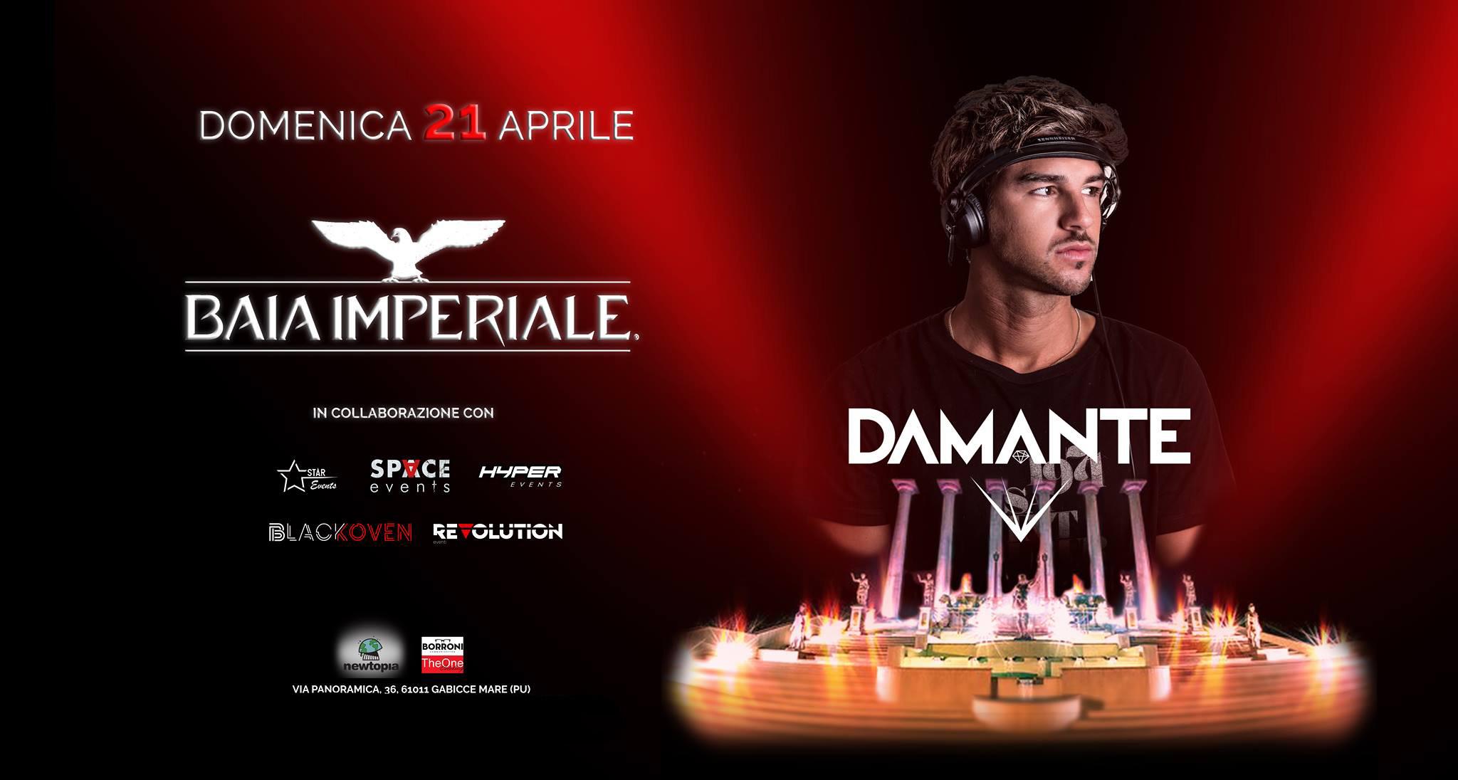 Pasqua 2019 Baia Imepriale Riccione DAMANTE – Domenica 21 Aprile 2019 – Ticket e Pacchetti Hotel