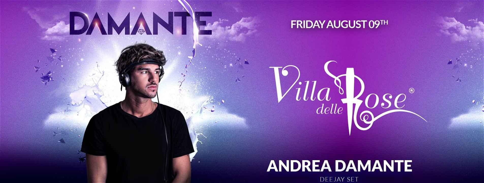 Andrea Damante alla Villa Delle Rose – Venerdì 09 Agosto 2019 – Ticket -Biglietti 18app – Pacchetti Hotel