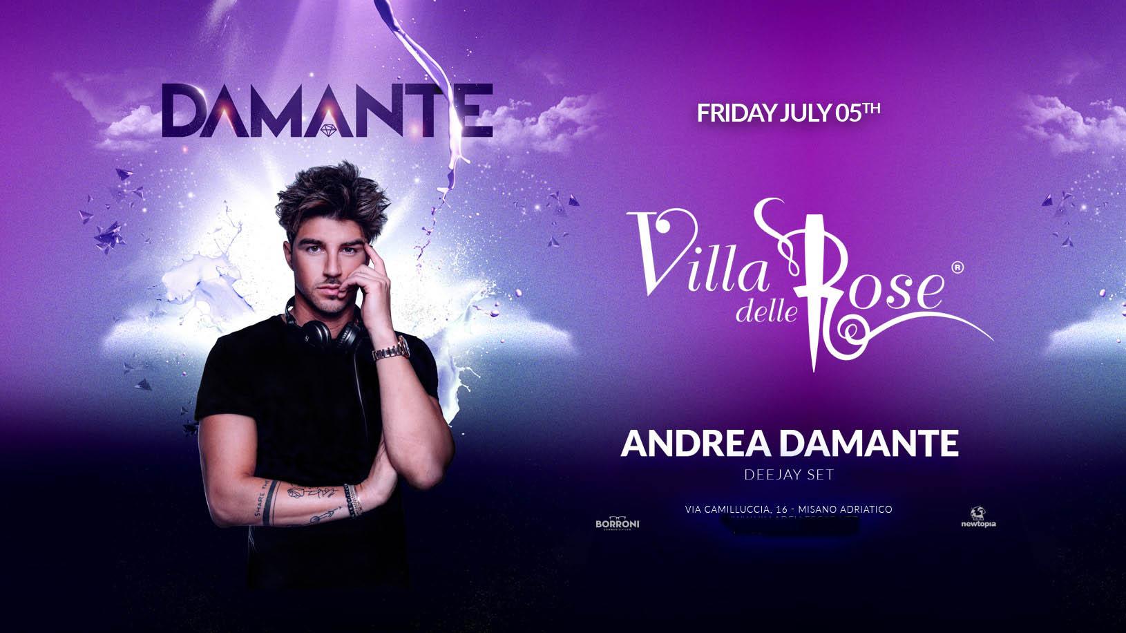 Andrea Damante  Villa Delle Rose Notte Rosa – Venerdì 5 Luglio 2019 – Ticket – Biglietti 18app – Tavoli e  Pacchetti Hotel