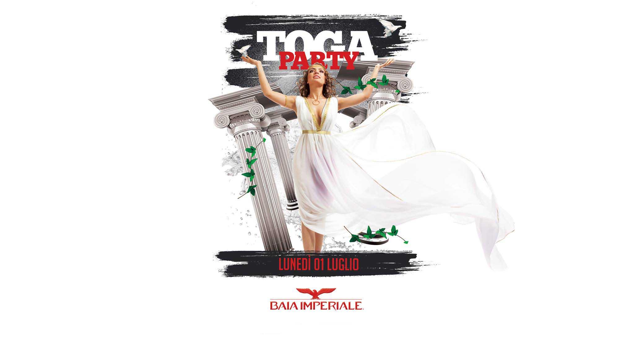 Baia Imperiale – Toga Party – Inaugurazione Lunedì 1 Luglio 2019 –  Ticket-Biglietti 18app – Tavoli – Pacchetti Hotel