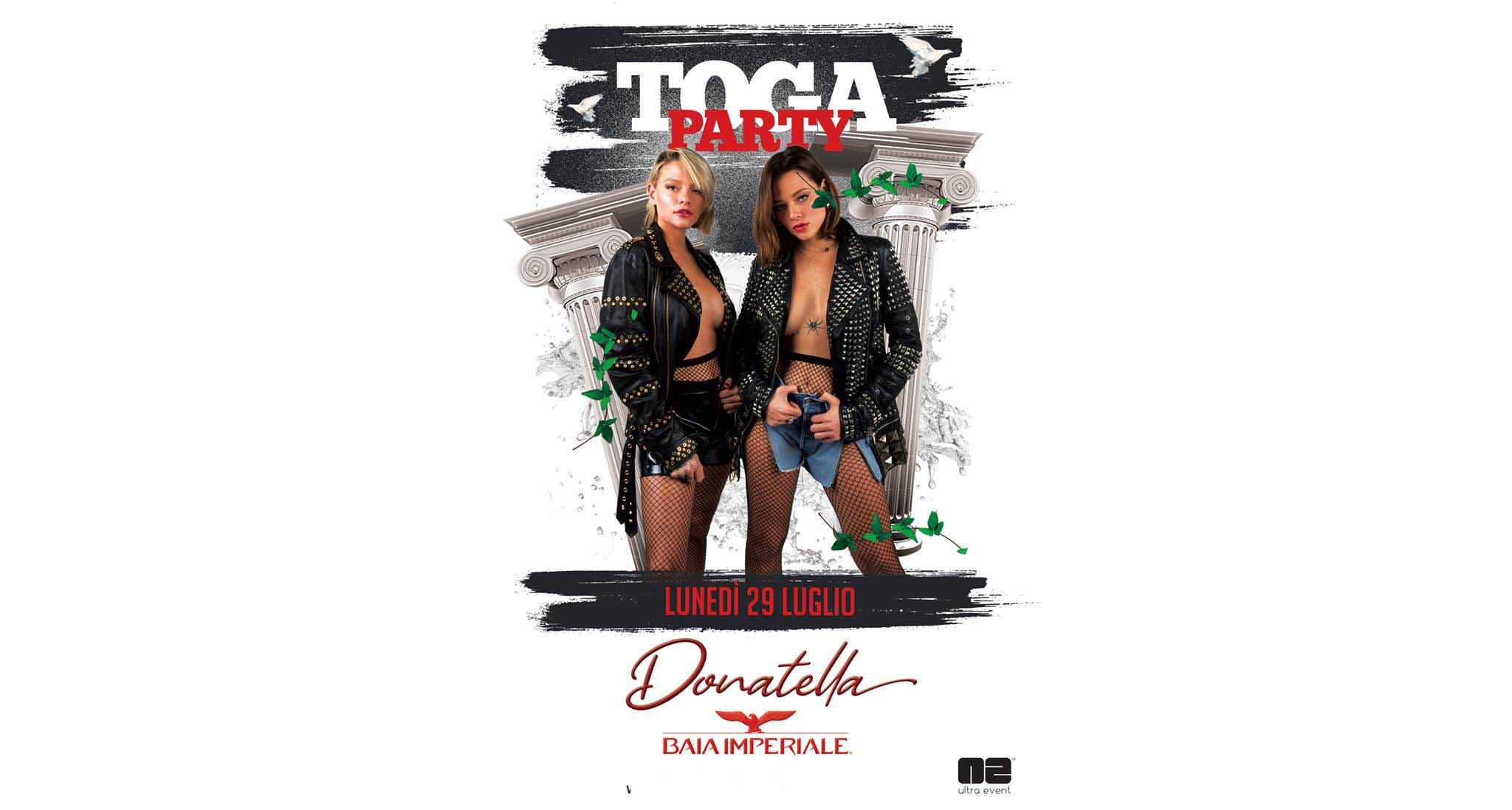 Baia Imperiale – Toga Party – Lunedì 29 Luglio 2019 –  Ticket-Biglietti 18app – Tavoli – Pacchetti Hotel