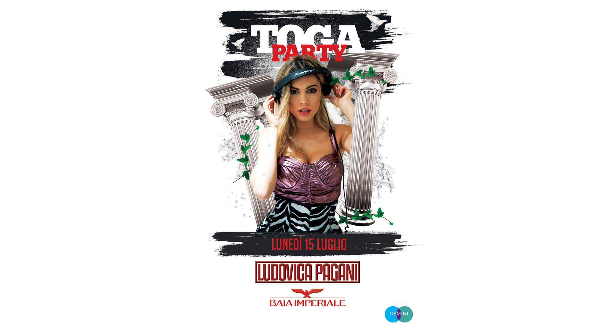 Baia Imperiale – Toga Party – Lunedì 15 Luglio 2019 –  Ticket-Biglietti 18app – Tavoli – Pacchetti Hotel