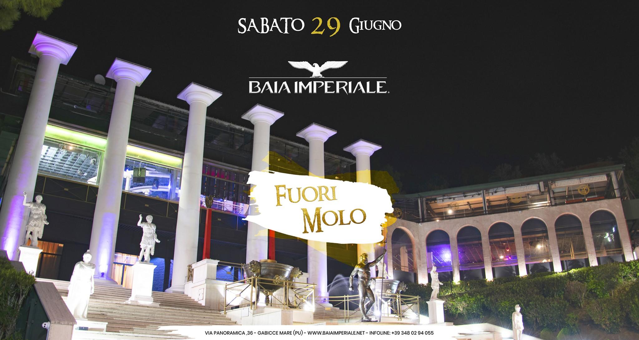 Baia Imperiale – Fuori Molo – Sabato 29 Giugno 2019 –  Ticket-Biglietti 18app – Tavoli – Pacchetti Hotel