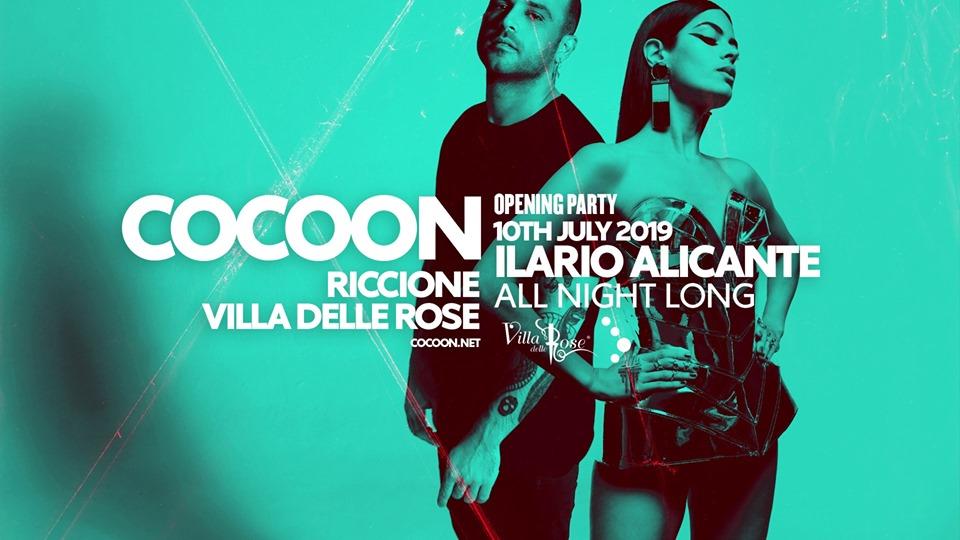 Villa Delle Rose – Cocoon – Ilario Alicante  Mercoledì 10 Luglio 2019 – Ticket -Biglietti 18app – Pacchetti Hotel