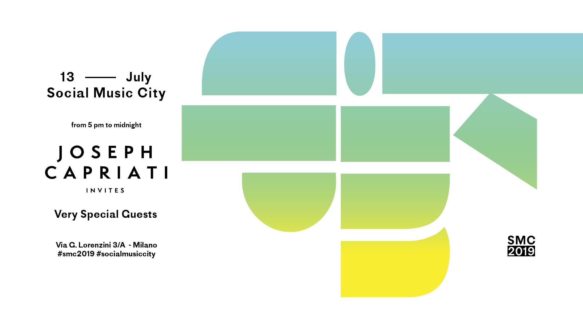 Joseph Capriati Adam Beyer Social Music City – 13 07 2019 – Ticket e Pacchetti Hotel
