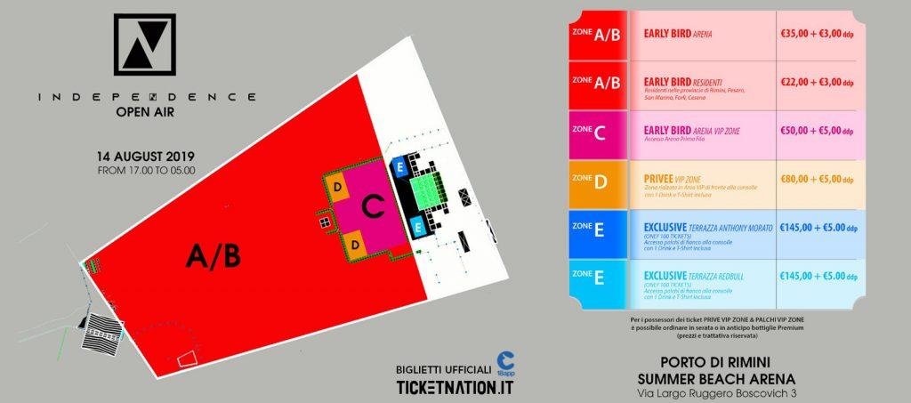 mappa biglietti indipendence ticketnation