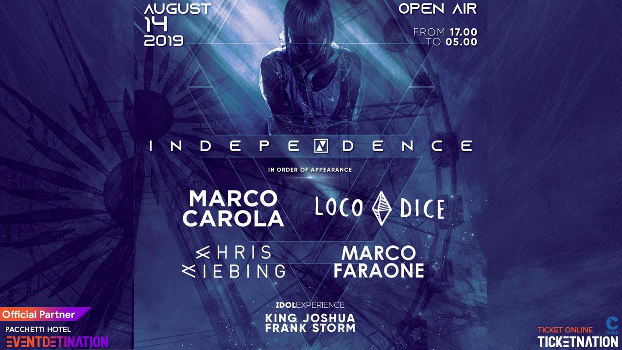 Marco Carola Loco Dice Chris Liebing Rimini Summer Beach Arena – 14 Agosto 2019 – Ticket -Biglietti 18app – Pacchetti Hotel