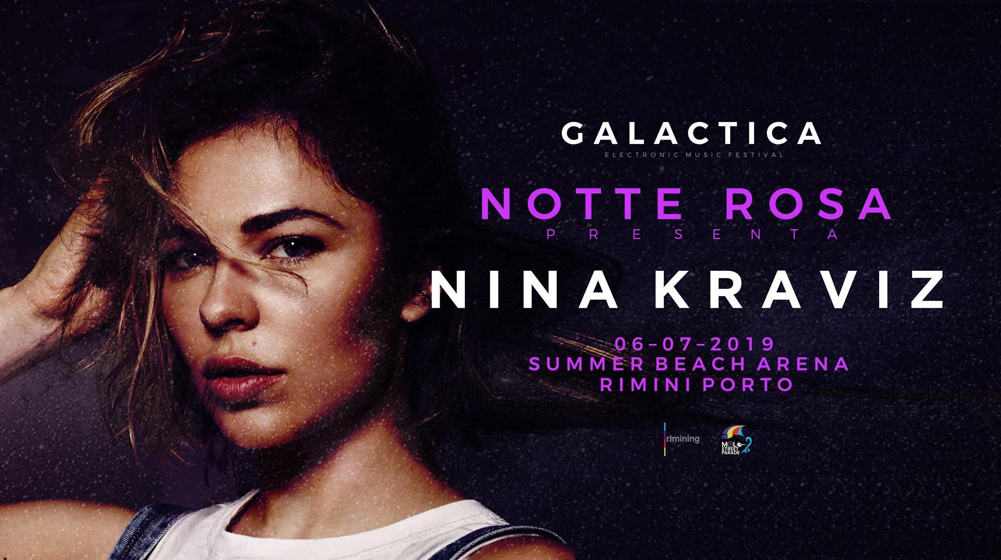 Nina Kraviz Rimini  Summer Beach Arena – Sabato 06 Luglio 2019 – Ticket – Biglietti 18app – Tavoli e  Pacchetti Hotel