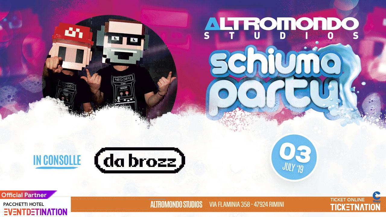 Schiuma Party – Altromondo Studios Rimini – Mercoledì 3 Luglio 2019 – Ticket – Pacchetti Hotel – 18 App