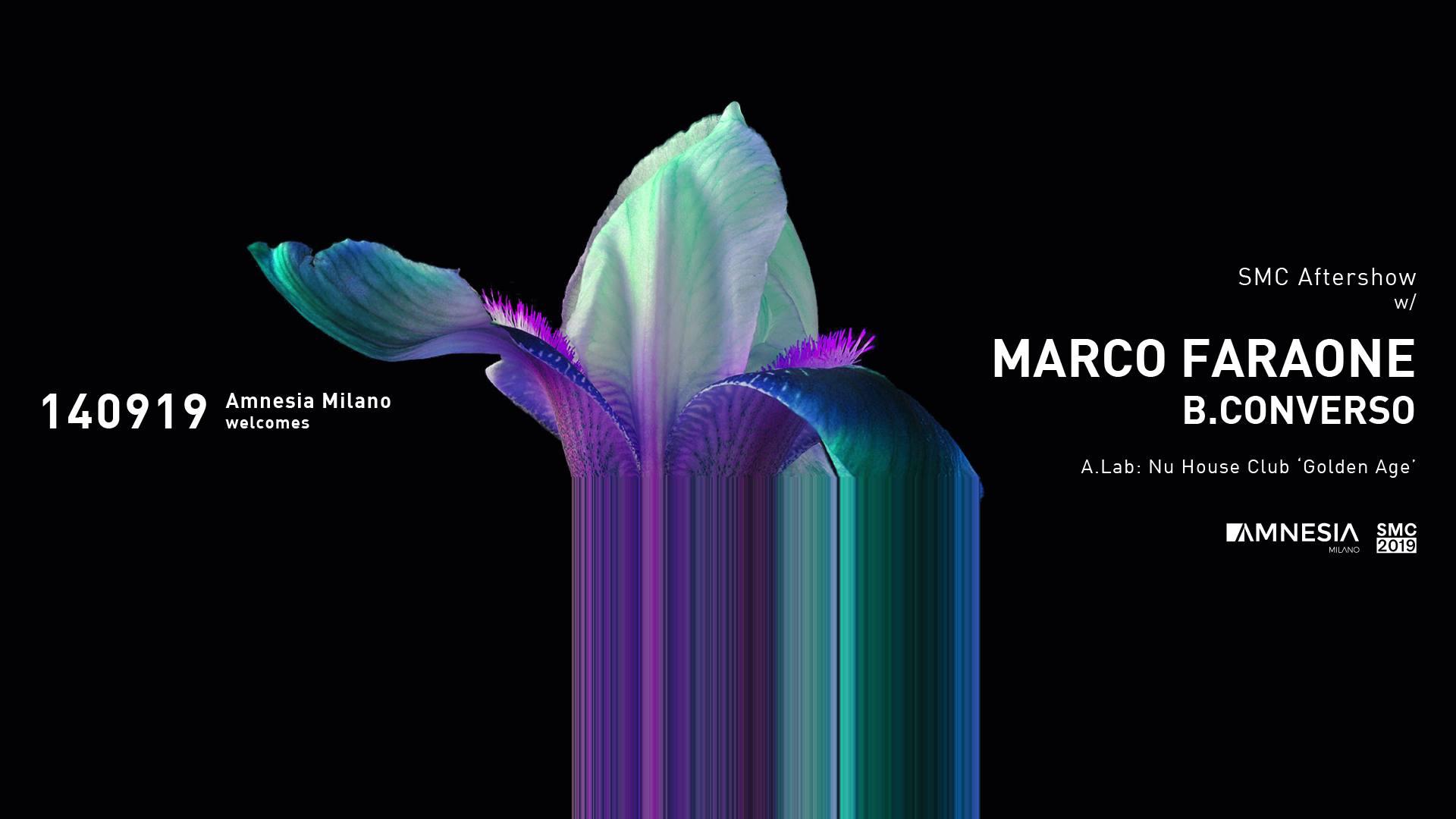 Amnesia Milano – 14 Settembre – SMC – Aftershow w – Marco Faraone – B.Converso