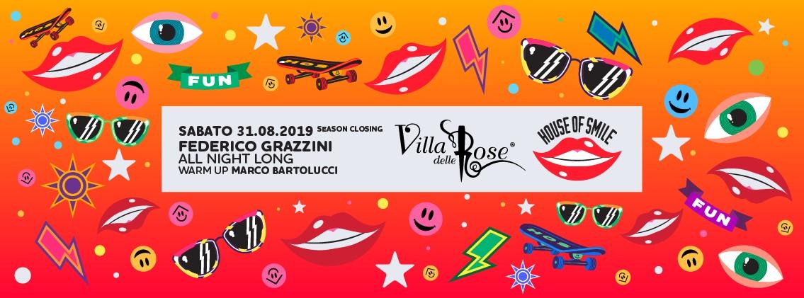 Villa Delle Rose Sabato 31 Agosto 2019 House of smile – Ticket – Biglietti 18app – Pacchetti Hotel