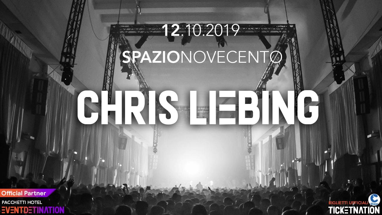 Chris Liebing Spazio Novecento Roma – Sabato 12 10 2019 – Ticket Biglietti 18App Tavoli e Pacchetti Hotel