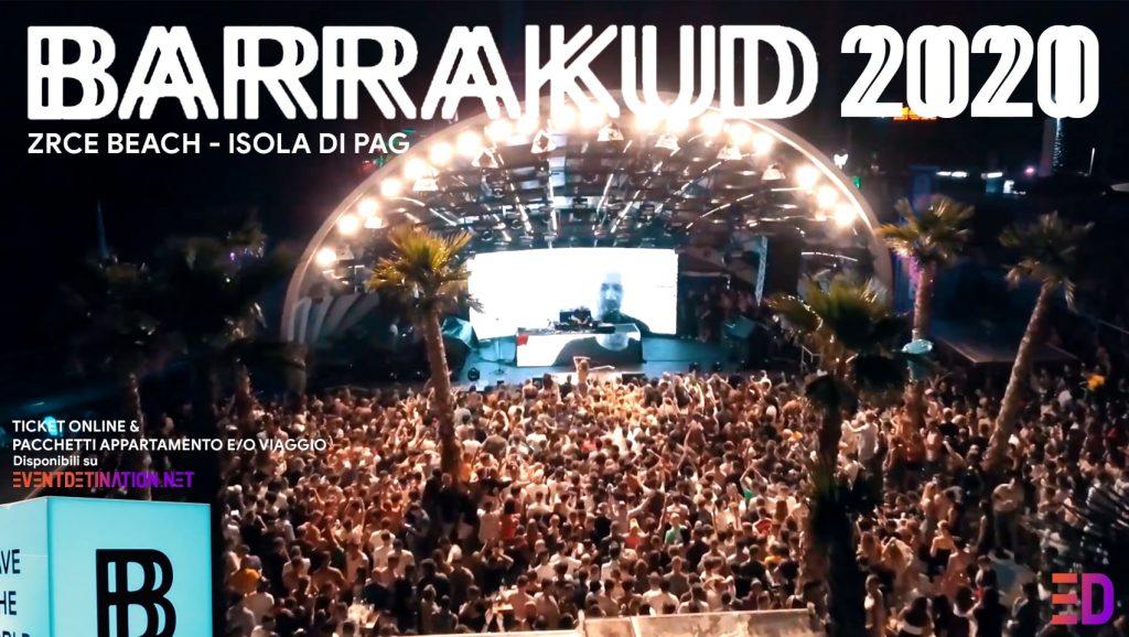 barrakud festival 2020 zrce beach isola di pag