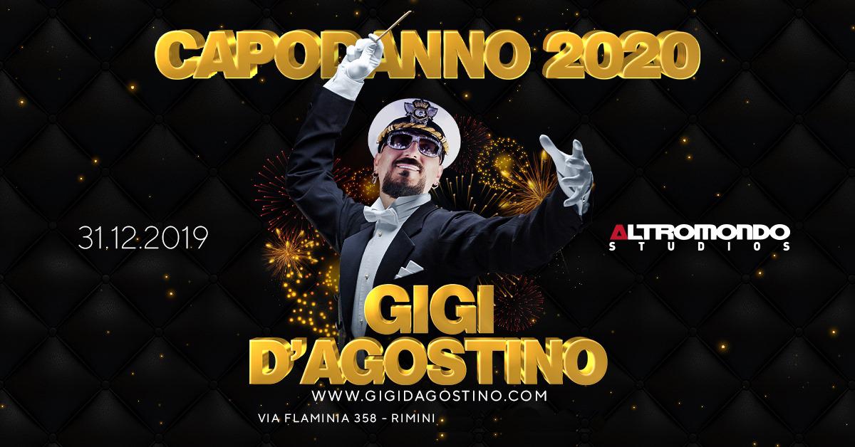 Gigi D'agostino Capodanno 2020 Altromondo Studios Rimini – 31 Dicembre 2019 – Ticket Pacchetti Hotel