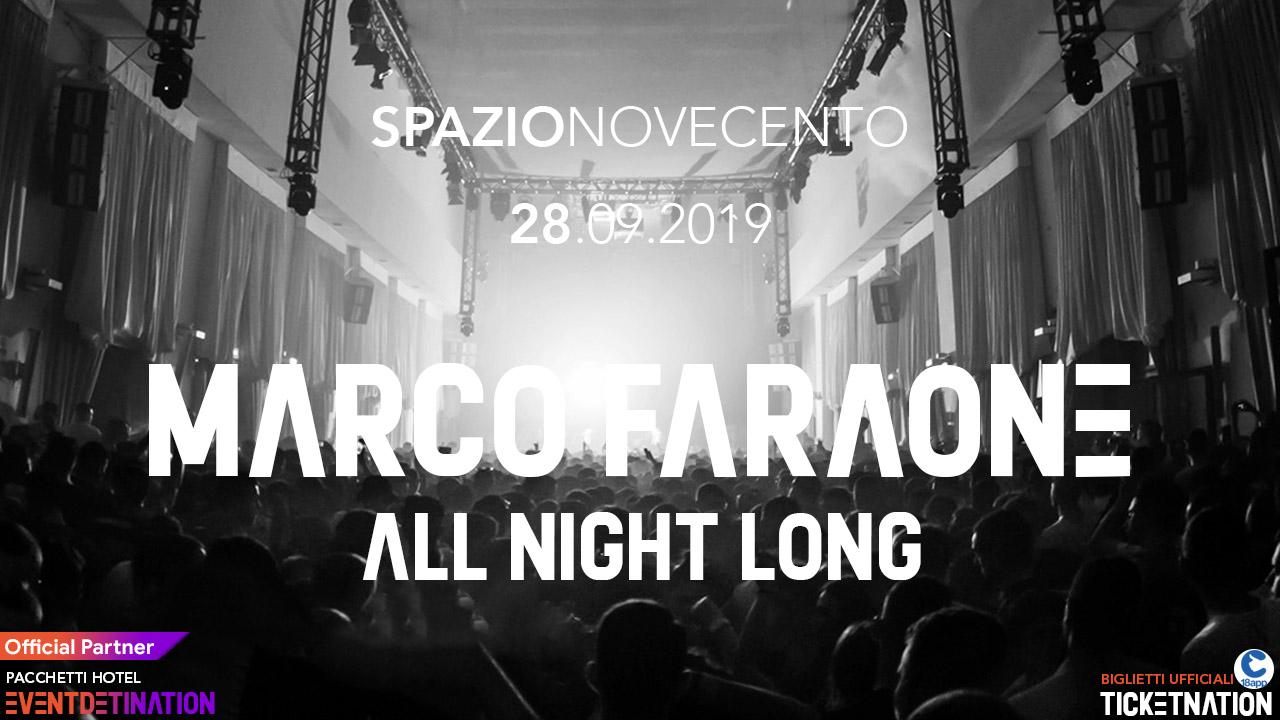 Spazio Novecento Roma Marco Faraone – Sabato 28 09 2019 – Ticket Biglietti 18App Tavoli e Pacchetti Hotel