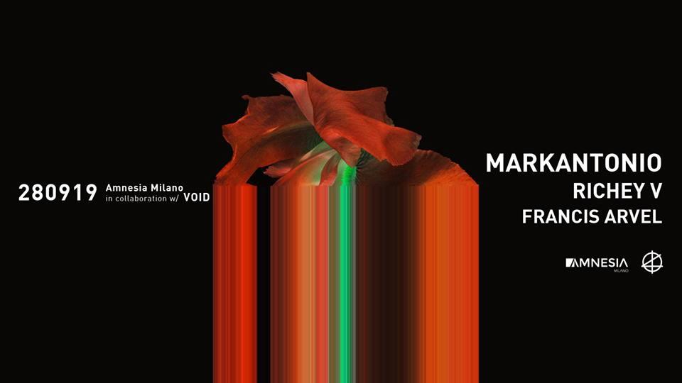 Amnesia Milano – Sabato 28 Settembre 2019 – Markantonio