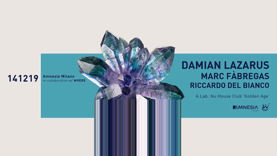 Amnesia Milano – Sabato 14 Dicembre – Damian Lazarus – Ticket – pacchetti hotel