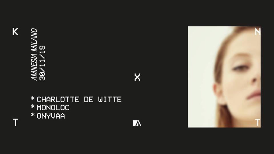Amnesia Milano – Sabato 30 Novembre Charlotte De Witte – Ticket – pacchetti hotel
