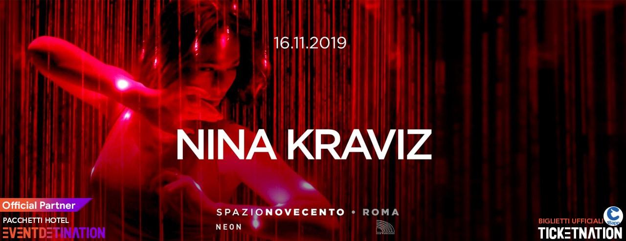 Nina Kraviz Spazio Novecento Roma Sabato 16 11 2019 – Ticket Biglietti 18App Tavoli e Pacchetti Hotel