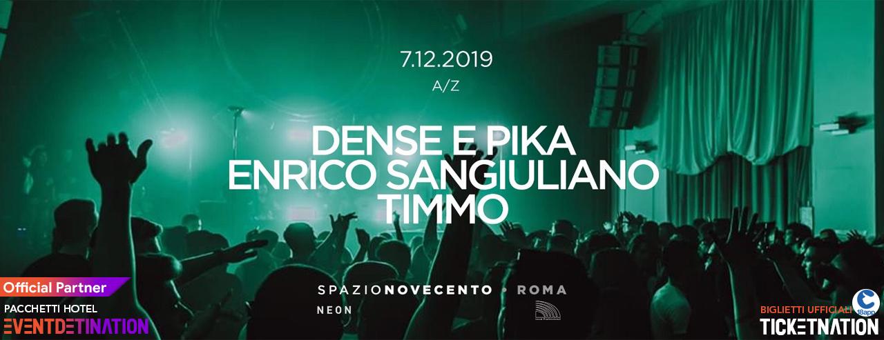 Enrico Sangiuliano Spazio Novecento Roma Sabato 07 12 2019 – Ticket Biglietti 18App Tavoli e Pacchetti Hotel
