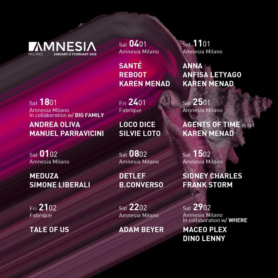 Amnesia Milano – Sabato 22 Febbraio 2020 – Adam Beyer – Ticket – pacchetti hotel