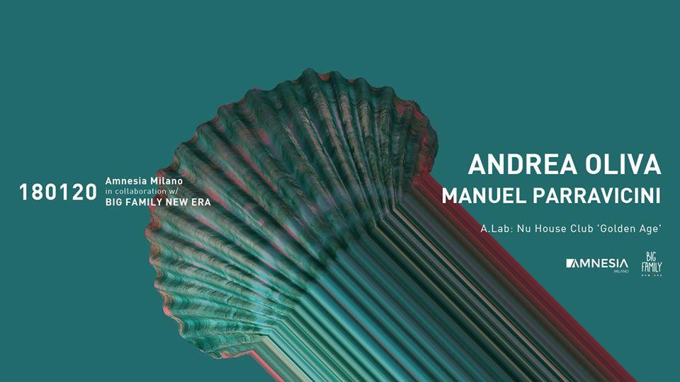 Amnesia Milano – Sabato 18 Gennaio 2020 – Andrea Oliva Manuel Parravicini – Ticket – pacchetti hotel