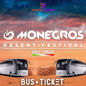 Monegros Desert Festival 2021 – Pacchetti Bus Ufficiali Italia