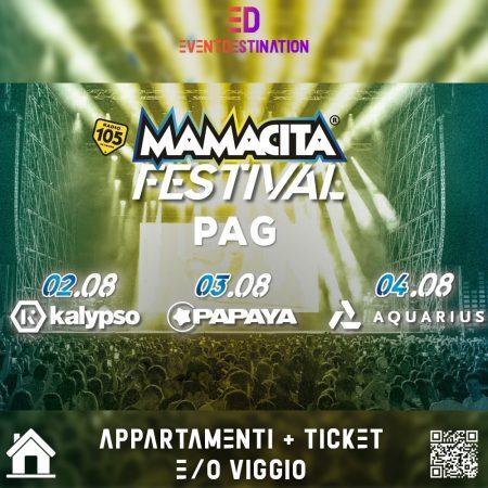 Mamacita Festival Pag 2020 – Pag Croazia Pacchetti Appartamento + Ticket e/o Viaggio