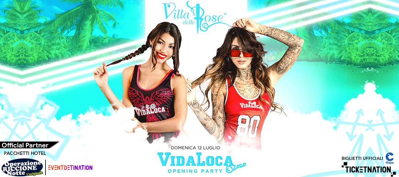 vida loca villa delle rose 12 luglio 2020 opening party