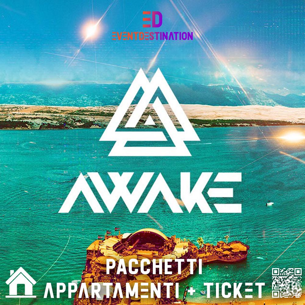 Awake Festival 2020 – Pacchetti ( Appartamento/Hotel ) + Ticket