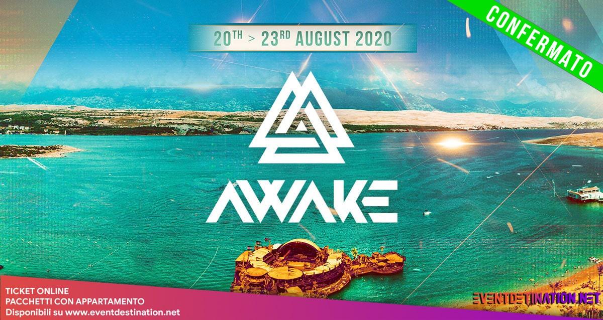 Awake Festival 2020 20 – 23 Agosto Zrce Novalja Pag Croazia Ticket Pacchetti Hotel