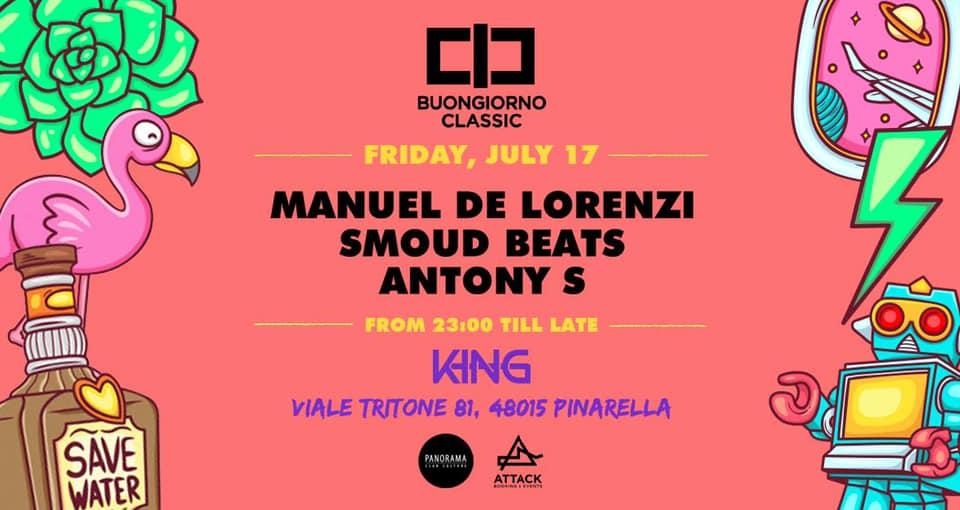 manuel de lorenzi smoud beats buongiorno classic king pinnarella sabato 17 luglio