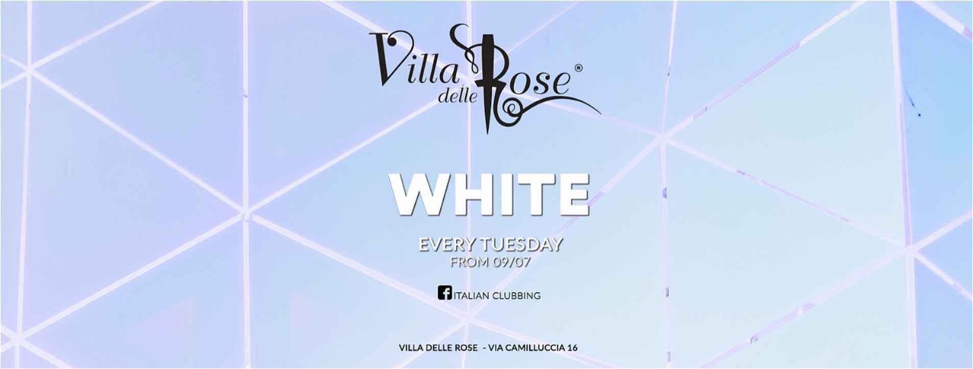 white party villa delle rose martedì 21 luglio