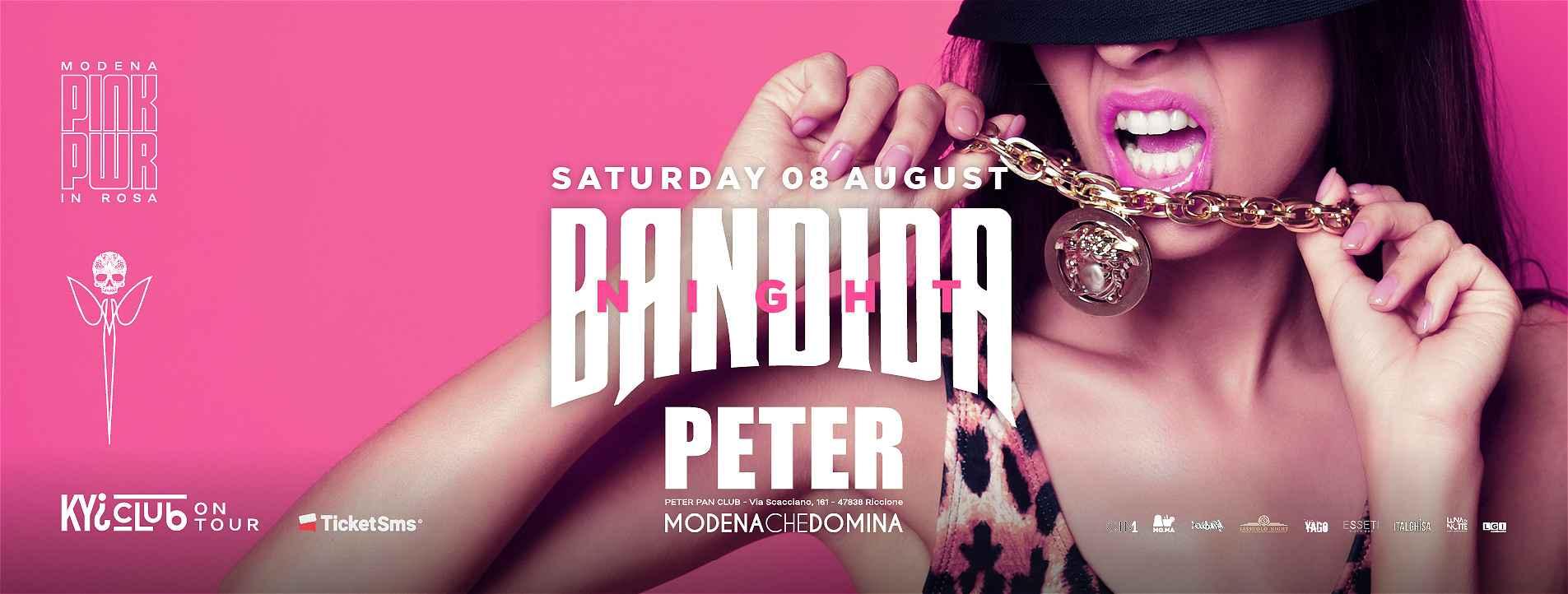 bandida night peter sabato 8 agosto