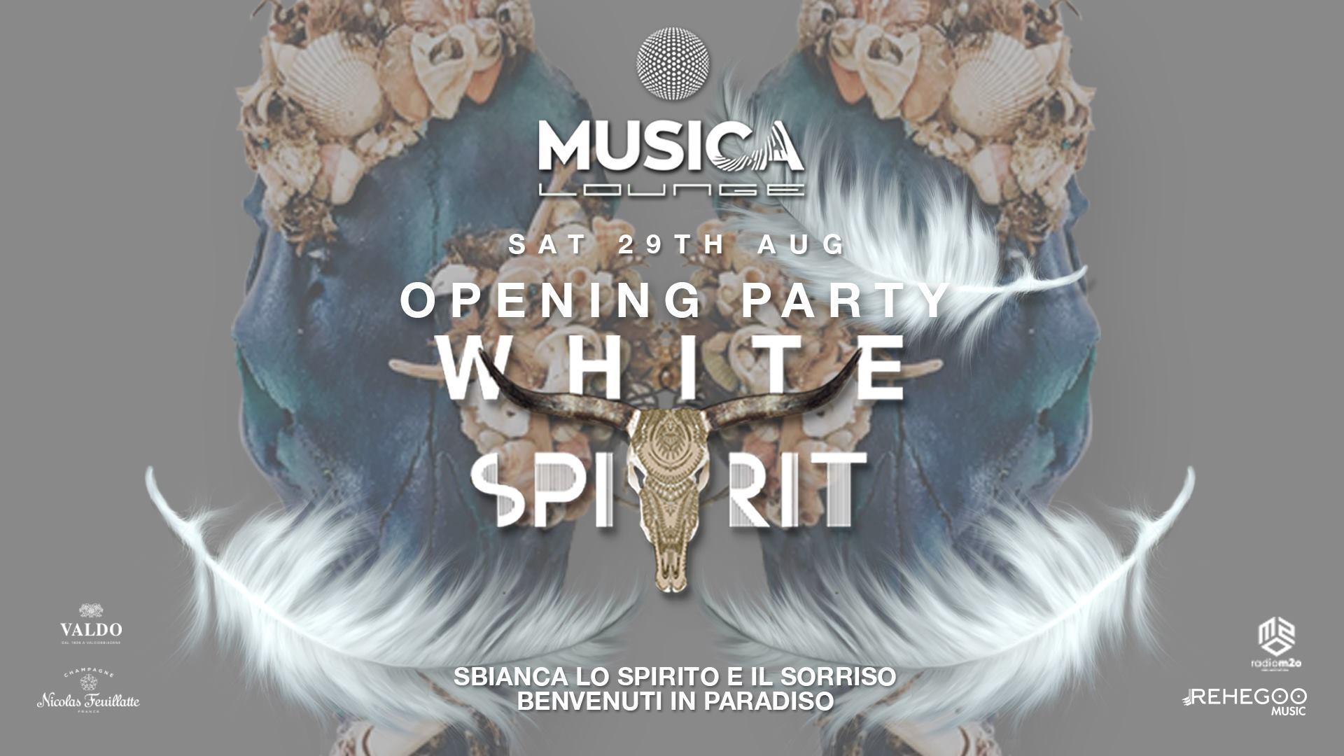 opening party white spirit musica sabato 29 agosto