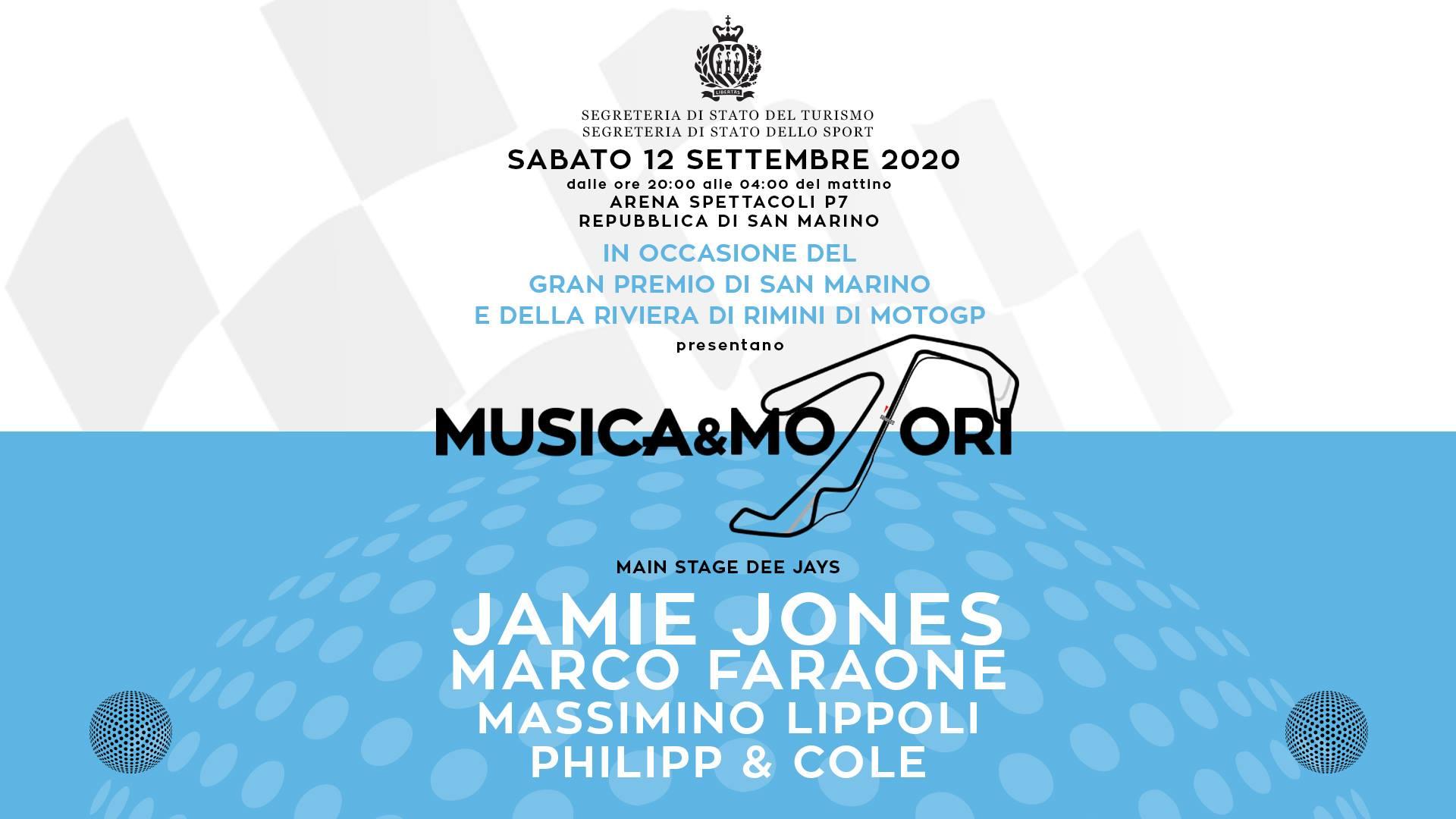 12 settembre 2020 musica e motori san marino