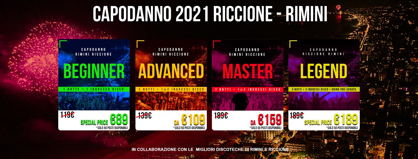 Capodanno a Riccione e Rimini 2021 Eventi Pacchetti Hotel e Discoteche