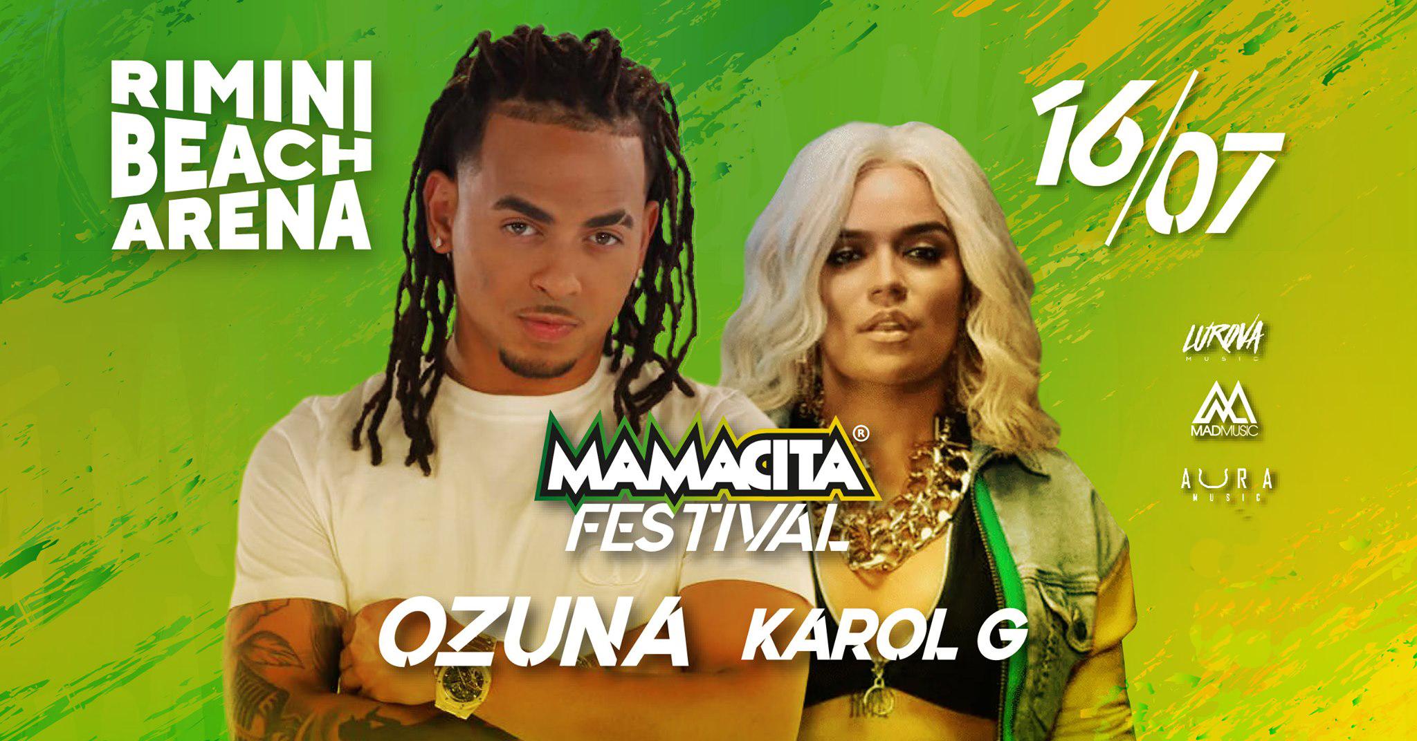 ozuna karol g mamacita festival 2021 rimini