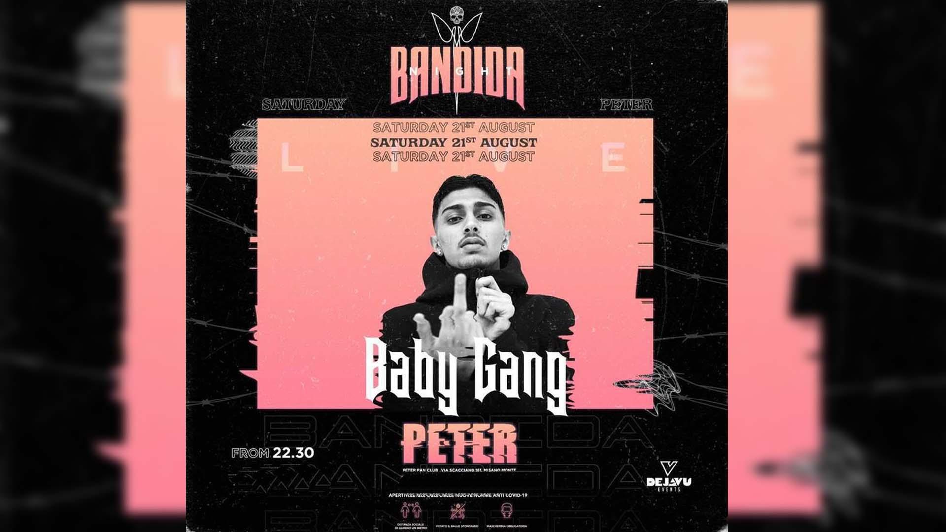 BABY GANG PETER PAN riccione 21 agosto 2021