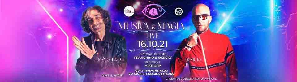 musica & magia quattro eventi milano 16 ottobre 2021